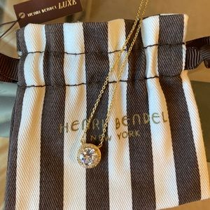 Henri Bendel Gold Luxe Halo Pendent Necklace